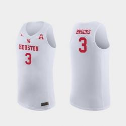 Men Houston Cougars Armoni Brooks White Replica College Basketball Jersey