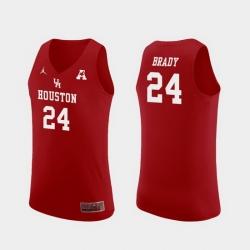 Men Houston Cougars Breaon Brady Red Replica College Basketball Jersey