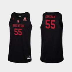 Men Houston Cougars Brison Gresham Black Replica College Basketball Jersey