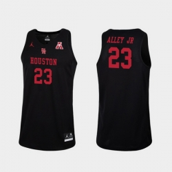 Men Houston Cougars Cedrick Alley Jr. Black Replica College Basketball Jersey