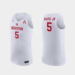 Men Houston Cougars Corey Davis Jr. White Replica College Basketball Jersey
