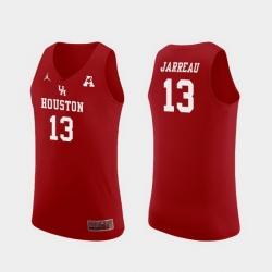 Men Houston Cougars Dejon Jarreau Red Replica College Basketball Jersey