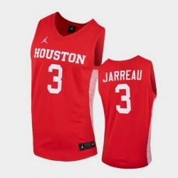 Men Houston Cougars Dejon Jarreau Replica Red College Basketball Jersey