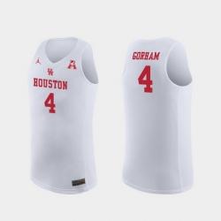 Men Houston Cougars Justin Gorham White Replica College Basketball Jersey