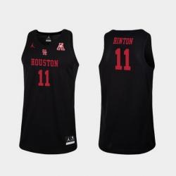 Men Houston Cougars Nate Hinton Black Replica College Basketball Jersey