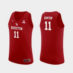 Men Houston Cougars Nate Hinton Red Replica College Basketball Jersey