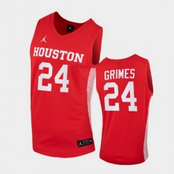 Men Houston Cougars Quentin Grimes Replica Red College Basketball Jersey