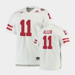 Men Nebraska Cornhuskers Austin Allen Premier White Football Jersey