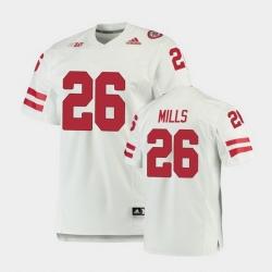Men Nebraska Cornhuskers Dedrick Mills Premier White Football Jersey