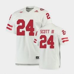 Men Nebraska Cornhuskers Marvin Scott Iii Premier White Football Jersey