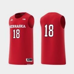 Men Nebraska Cornhuskers Scarlet Basketball Swingman Adidas Replica Jersey