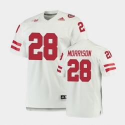 Men Nebraska Cornhuskers Sevion Morrison Premier White Football Jersey