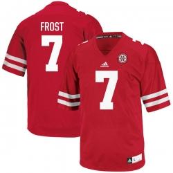 Men adidas Scott Frost Red Nebraska Cornhuskers #7 Football Jersey