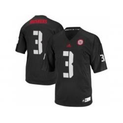 Nebraska Cornhuskers 3 Taylor Martinez Black College Football NCAA Jersey