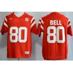 Nebraska Cornhuskers 80 Kenny Bell Red NCAA Jersey