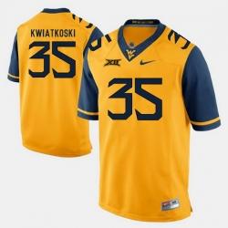 Men Nick Kwiatkoski Gold West Virginia Mountaineers Alumni Football Game Jersey