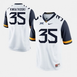 Men Nick Kwiatkoski White West Virginia Mountaineers Alumni Football Game Jersey