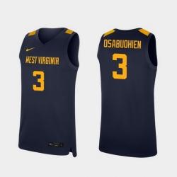 Men West Virginia Mountaineers Gabe Osabuohien Navy Replica College Basketball Jersey