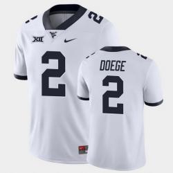 Men West Virginia Mountaineers Jarret Doege Game White College Football Jersey
