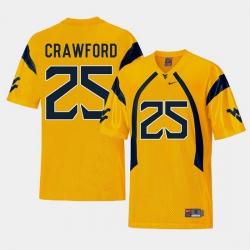 Men West Virginia Mountaineers Justin Crawford Gold College Football Alternate Jersey