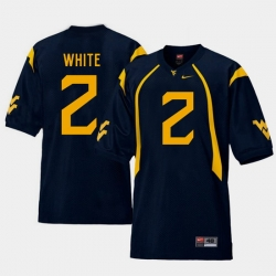 Men West Virginia Mountaineers Ka'Raun White Navy College Football Home Jersey
