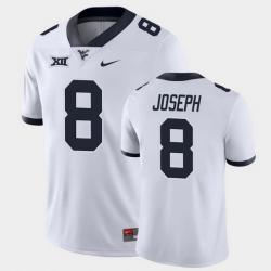 Men West Virginia Mountaineers Karl Joseph Game White College Football Jersey