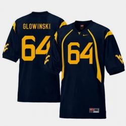 Men West Virginia Mountaineers Mark Glowinski Navy College Football Home Jersey
