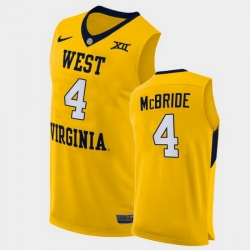 Men West Virginia Mountaineers Miles Mcbride Alternate Yellow Authentic Jersey