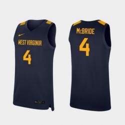 Men West Virginia Mountaineers Miles Mcbride Navy Replica College Basketball Jersey