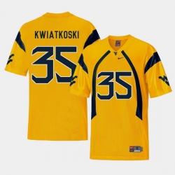 Men West Virginia Mountaineers Nick Kwiatkoski Gold College Football Alternate Jersey