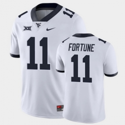 Men West Virginia Mountaineers Nicktroy Fortune Game White College Football Jersey