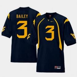 Men West Virginia Mountaineers Stedman Bailey Navy College Football Home Jersey