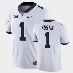 Men West Virginia Mountaineers Tavon Austin Game White College Football Jersey