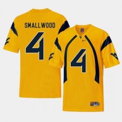 Men West Virginia Mountaineers Wendell Smallwood Gold College Football Alternate Jersey