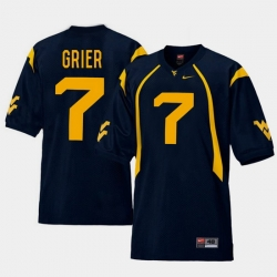 Men West Virginia Mountaineers Will Grier Navy College Football Home Jersey