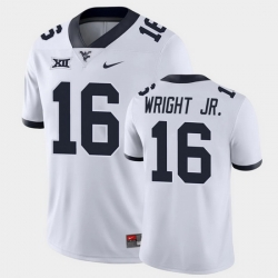 Men West Virginia Mountaineers Winston Wright Jr. Game White College Football Jersey