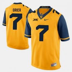 Men Will Grier Gold West Virginia Mountaineers Alumni Football Game Jersey