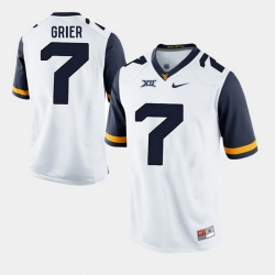 Men Will Grier White West Virginia Mountaineers Alumni Football Game Jersey