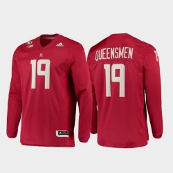 Men Rutgers Scarlet Knights 19 Scarlet 150Th Anniversary Strategy Long Sleeve Jersey