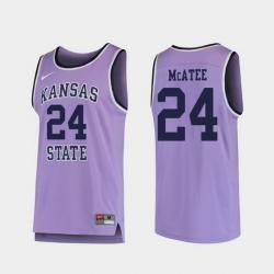 Men Kansas State Wildcats Pierson Mcatee Purple Replica College Basketball Jersey