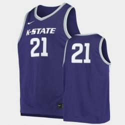 Men Kansas State Wildcats Replica Purple Basketball Jersey