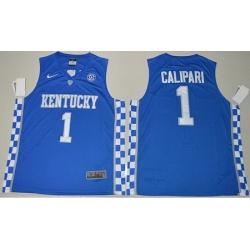 Wildcats #1 John Calipari Royal Blue Basketball Elite Stitched NCAA Jersey