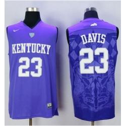 Wildcats #23 Anthony Davis Blue Basketball Stitched NCAA Jersey