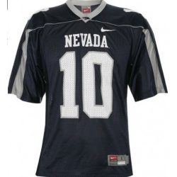 Nike Nevada Wolf Pack Colin Kaepernick 10 WAC Patch College Football Jerseys - Blue