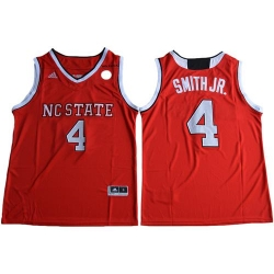 Wolfpack #4 Dennis Smith Jr  Red Basketball Stitched NCAA Jersey