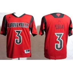 Louisville Cardinals 3 Peyton Siva Red College NCAA Jerseys