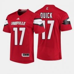 Louisville Cardinals James Quick College Football Red Jersey