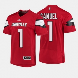 Louisville Cardinals Traveon Samuel College Football Red Jersey
