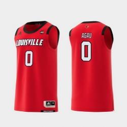 Men Louisville Cardinals Akoy Agau Red Replica College Basketball Jersey