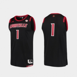 Men Louisville Cardinals Black Basketball Swingman Adidas Replica Jersey